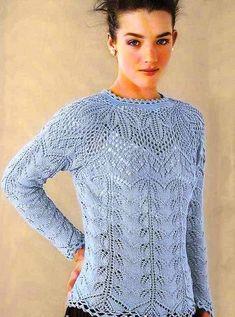 Красивый вязаный пуловер с круглой кокеткой.. Обсуждение на LiveInternet - Российский Сервис Онлайн-Дневников