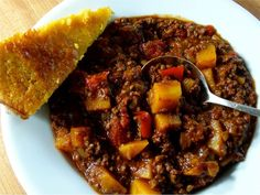 This paleo chili recipe uses butternut squash instead of beans. Butternut squash has fewer than half the calories and carbohydrates of beans.