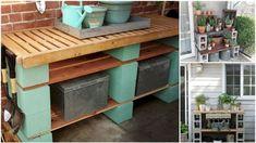 Betonové tvárnice jsou relativně levné, tedy dostupné, v různých tvarových variantách a takřka bezúdržbové. Kitchen Cart, Storage, Furniture, Garden, Home Decor, Purse Storage, Garten, Room Decor, Store