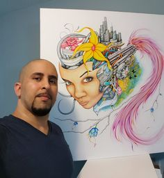 Flores Makes Intricate Art Despite His Tremor - Professional Artist Magazine Latino Artists, Watercolor Tattoo, The Past, Magazine, How To Make, Inspire, Inspiration, Biblical Inspiration, Magazines