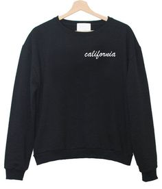 Embriodery corner California Black Crewneck - Freshtops Marketplace