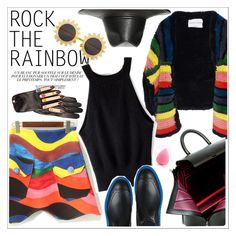 """Rainbow Style"" by teoecar ❤ liked on Polyvore featuring Ex Voto Paris, Sonia Rykiel, Blumarine, Balenciaga, H&M, women's clothing, women's fashion, women, female and woman"
