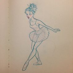 Another curious dancer! #sketch #illustration #design #art #animation #ballerina #girl #feathers