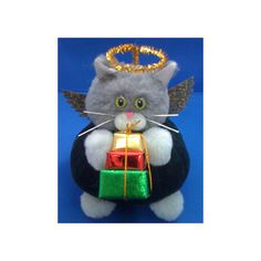 Herald Angel -  Christmas Cat Purrsonality - Fiber Art Collectible 33 on Etsy, $12.00