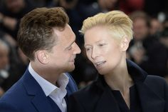 (&) Tom Hiddleston and Tilda Swinton attend the photocall for 'Only Lovers Left Alive' at the 66th Annual Cannes Film Festival at the Palais des Festivals on May 25, 2013 in Cannes, France