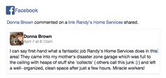 Randys Home Services Testimonial from April 7, 2015