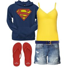 superman, created by lisa-trent.polyvore.com