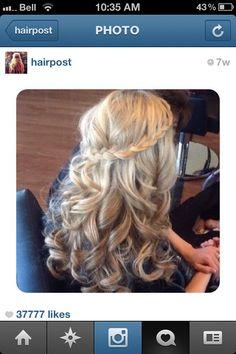 Bridesmaid hair I like that? Hmm