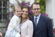 Baby number two: The royal pictured with her daughterPrincess Estelle, Duchess of Östergötland, three