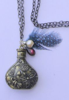 Necklace with a vessel Romantic and chic necklace by BBBsDesigns, $16.00