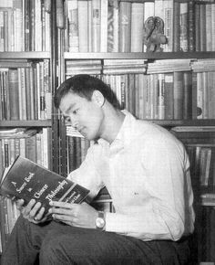 The Legendary Bruce Lee reading A Source Book in Chinese Philosophy by Wing-Tsit Chan