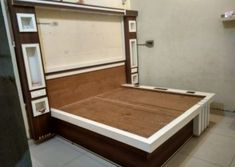 Bedroom is the place of home.We also need lots of furniture to make the room Just like a wardrob in the room. Drawing Room Furniture, Bedroom Furniture Design, Bed Furniture, Lcd Unit Design, Lcd Panel Design, Wall Unit Decor, Bedroom Wall Decor Above Bed, Wood Bed Design, Modern Tv Wall Units