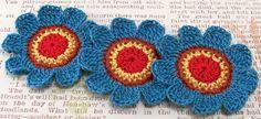 Crochet Flower Appliques Southwest van FineThreads op Etsy