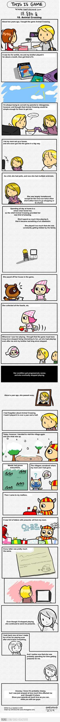 Animal Crossing Tragedy [Touching story]- I seen this a long time ago but every time I see it, it touches me. So sweet/sad.