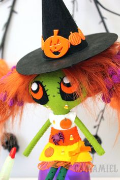 RESERVED FOR MISSY Halloween witch doll Cadabra by camamiel, $45.00