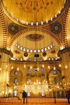 The Sultan Ahmed Mosque in Istanbul, Turkey (completed 1616)
