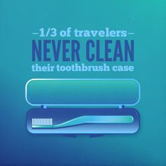 AN UNWASHED TOOTHBRUSH case is the perfect environment for bacteria, mold, and nasty smells to thrive. Make sure you're keeping that case clean! #dfcadent #dentistry #toothbrush #toothbrushcase #travels