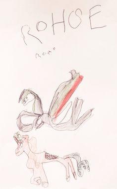 Rohse = horse = hevonen - Viisivuotias piirtää hevosen - Five-year-old drawing a horse