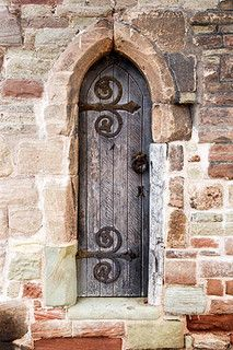 Wooden Door in the Monnow Bridge Tower Monmouth Monmouthshire Wales by Mark Sunderland, via Flickr