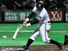 Hidekazu Hoshi's broken-bat RBI single to shallow center put Lions up 3-2 in the 6th inning on July 4, 2012.