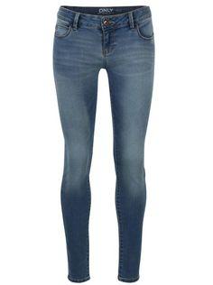 Modré skinny džíny s nízkým pasem ONLY Coral 11770e5e26