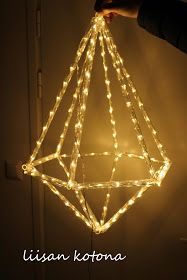 Liisan kotona: DIY valohimmeli Christmas Tree Ornaments, Christmas Time, Christmas Decorations, Xmas, Straw Sculpture, Straw Art, Crafts To Make, Diy Crafts, Straw Weaving