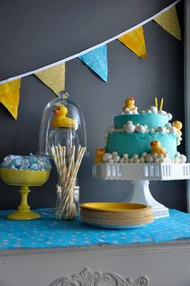 Rubber ducky baby shower.