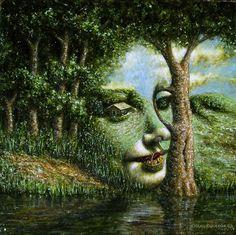 Figueroa - Apparition of Leonardo's Angel in a Landscape III