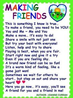 Image result for poem friendship kids | Preschool friendship ...
