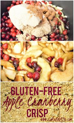 I decided to try this winning combination of apples and cranberries as a bit of a twist on a classic dish. Gluten Free Crisps, Gluten Free Recipes, Apple Recipes, Great Recipes, Favorite Recipes, Healthy Foods, Healthy Eating, Healthy Recipes, Apple Cranberry Crisp