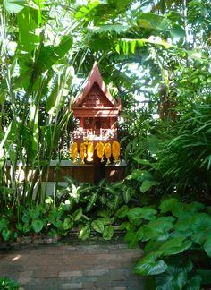 This spirit houses is found in Jim Thompson's garden, Bangkok