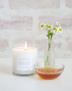our favorite honey scented candle... yum!