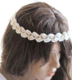 crochet headband hair band beige headband Boho by selenayselenay, $15.00 #headband #hairband #hairaccessory