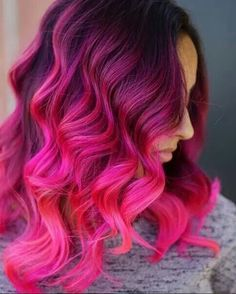Beautiful Violet to Hot Pink Ombré