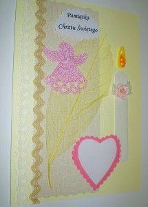 Kartka z okazji chrztu dla dziewczynki