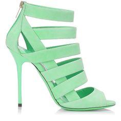 Jimmy Choo Spring 2014 Damsen Suede Strappy Sandal - Buy Online - Designer Sandals