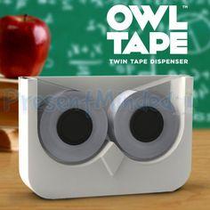 Owl Tape Novelty Twin Double Sticky Tape Dispenser Pinned by www.myowlbarn.com