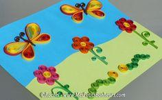 Le Quilling (ou Paperolles): L'art des ronds et arabesques en papier roulé... pour des oeuvres tout en relief!  http://www.mespetitsbonheurs.com/modele-facile-en-quilling-fleurs-et-chenilles-a-faire-avec-les-enfants/