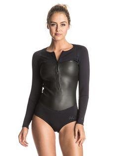 00e8c5ac6d 1mm Satin Bikini - Long Sleeve Front Zip Springsuit for Women ERJW403011