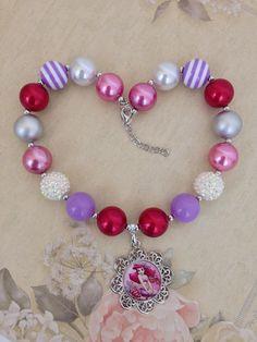 Disney Ariel Bubblegum collar  la Sirenita  Ariel collar