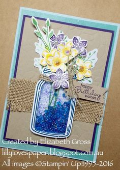Lillybet's Papers: Having fun with the Jar of Flowers bundle!