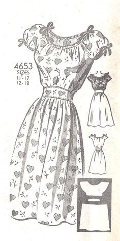 1940s peasant dress pattern. i need one of these for summer.
