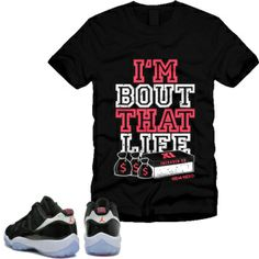Matching tee / t-shirt for Jordan 11 infrared 23 cement... USE CODE: INFRAREDNERD23 for 25% Off at www.TheNewNerdProject.com