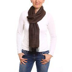 Pashmina cachemire et soie marron  soie  cachemire  echarpeensoie  confort   douceur   4255b29ab63