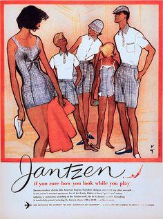 Illustration by René Gruau, Jantzen Swimwear.