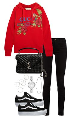 """""""Untitled #3910"""" by theeuropeancloset on Polyvore featuring Gucci, Yves Saint Laurent, Vans and Kate Spade"""