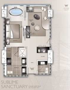 typical w hotel guestroom plans - Google Search