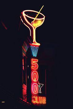 500 Club neon sign - Photo by Thomas Hawk