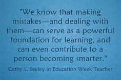 How can teachers help students learn from mistakes or failures? Cathy Seeley and more educators respond in this Education Week piece.