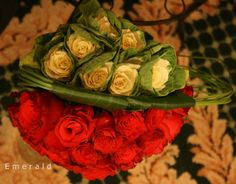 Double bouquet red roses